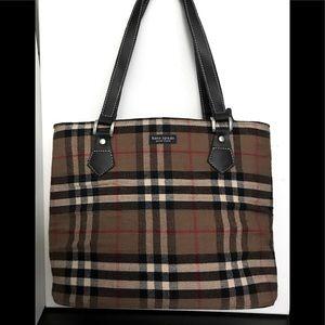 Kate Spade Bag  Rare Vintage Plaid Tweed Purse